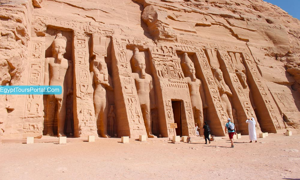 Queen Nefertari Temple At Abu Simbel Temple - Egypt Tours Portal