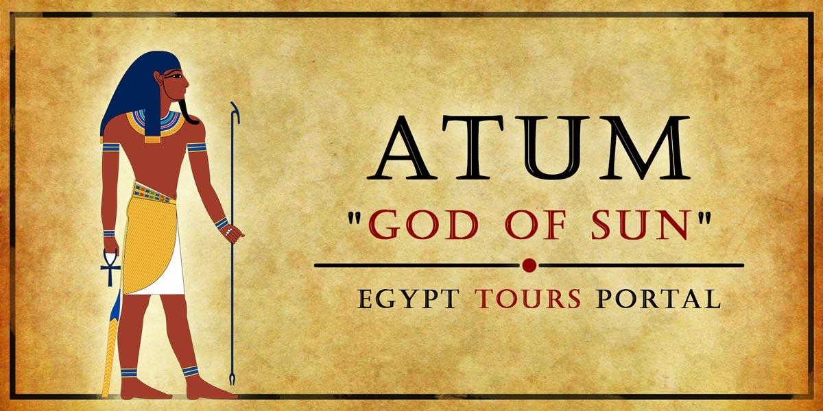 Atum, God of Sun - Ancient Egyptian Gods And Goddesses - Egypt Tours Portal